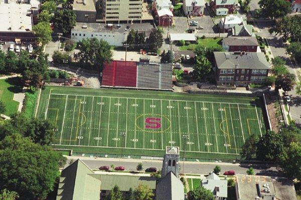Aerial view of Memorial Field