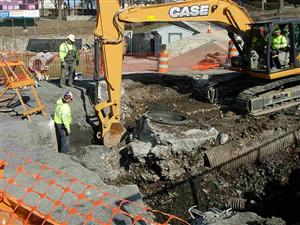 sink hole work continues