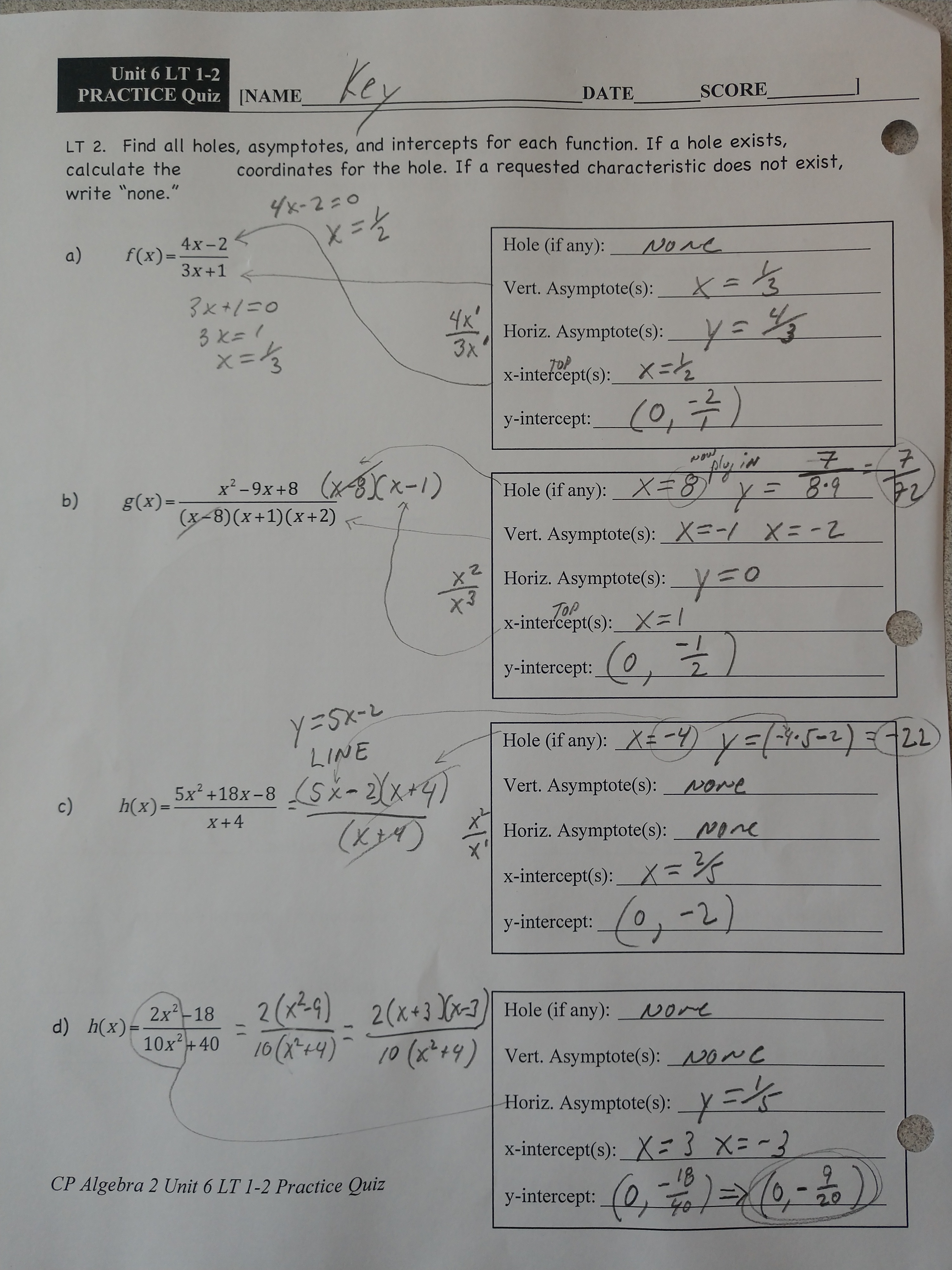 Fravel, Dan, Math / CP-Algebra 2