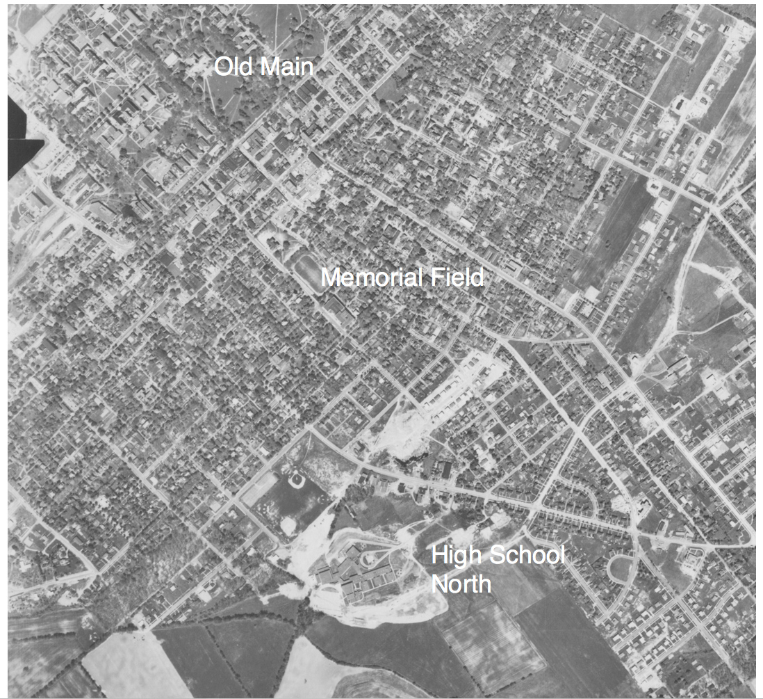1957 aerial photo of State College