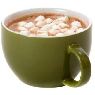 mug of hot chocolate with marshmallows in it