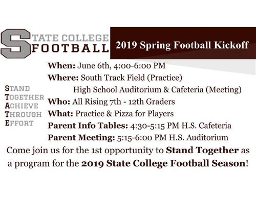 State College 2019 Spring Football Kickoff