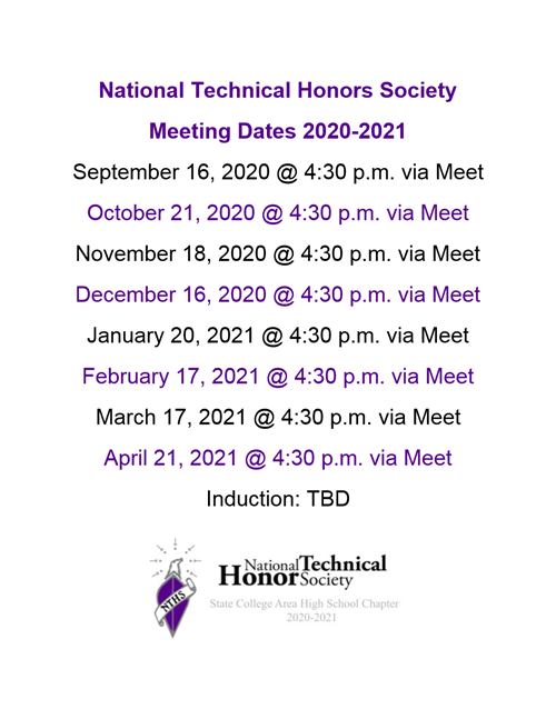 NTHS Meeting Dates 20-21