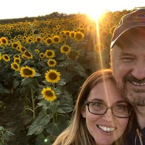 Mrs and Mr Snyder with Sunflowers!