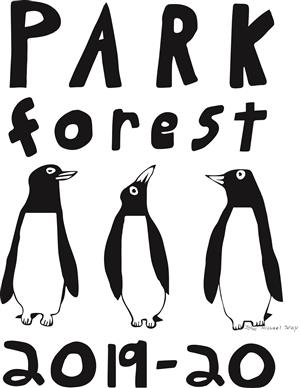 3 penguins with text: park forest 2019-20