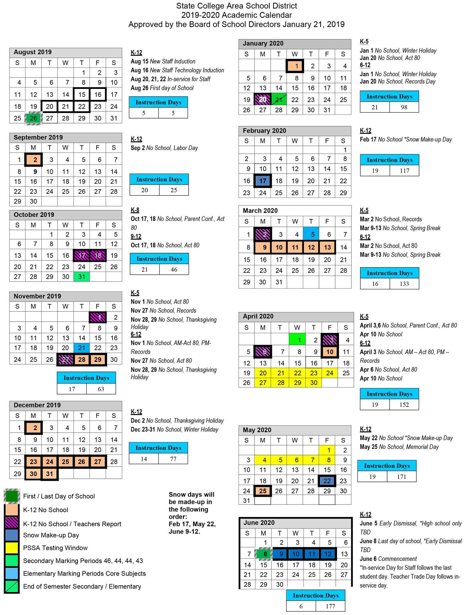Texas State Spring 2020 Calendar.2019 2020 Academic Calendar