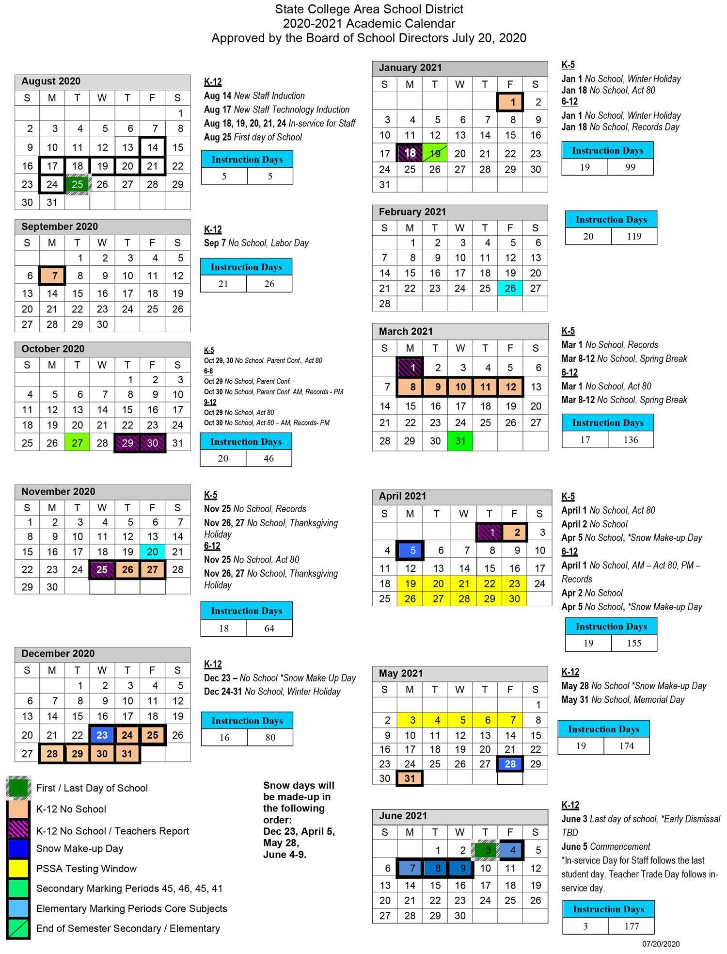Rit 2021 Calendar 2020 2021 Academic Calendar