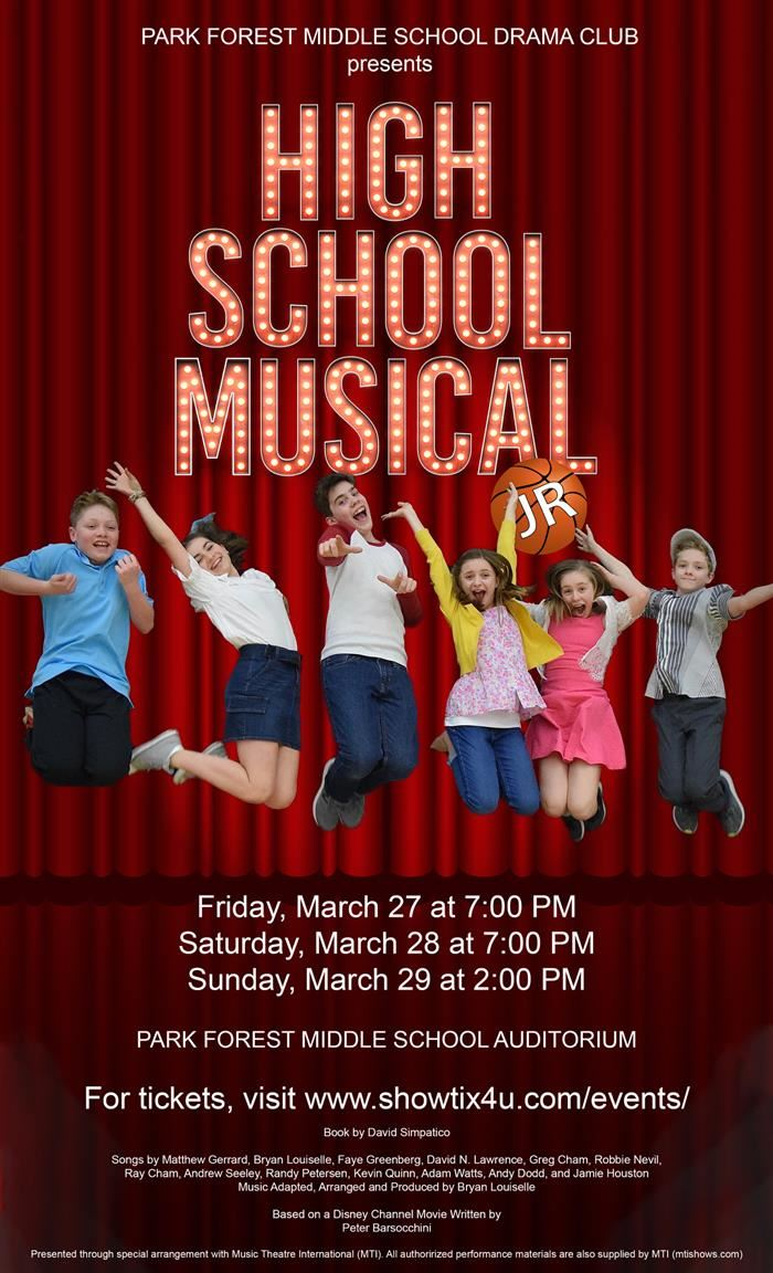 Promotional photo of PFMS High School Musical Jr.
