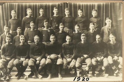 State College High School football team in 1920