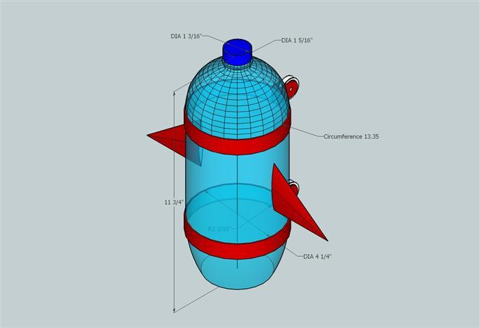 Wilson, Greg, Tech Ed Teacher / Rocket Design Drawings